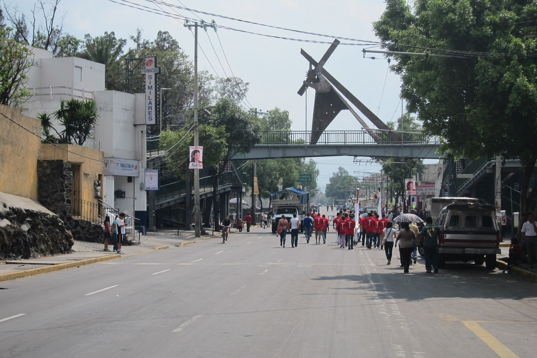 I randomly ended up in Iztapalapa three times during my stay in Mexico City. The first was for the cross bearing ceremony pictured above, and the second and third were for parties. I didn't take any pictures of those.