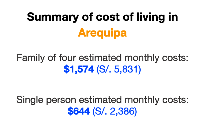 cost-of-living-arequipa