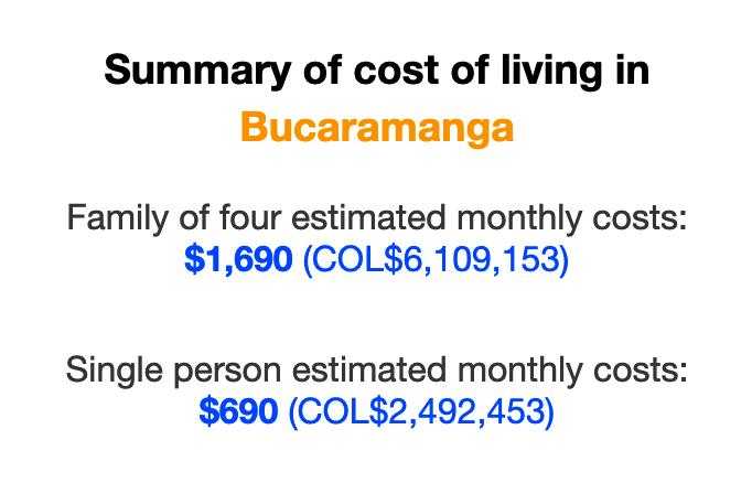 cost-of-living-bucaramanga