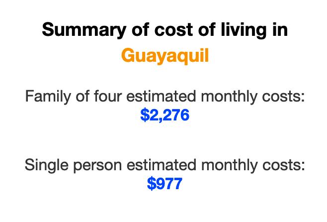 cost-of-living-guayaquil-ecuador